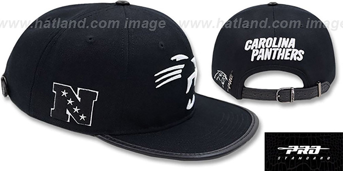Panthers 'TEAM-TRACE STRAPBACK' Black Hat by Pro Standard