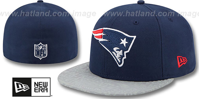 Patriots '2014 NFL DRAFT' Navy Fitted Hat by New Era : pictured without stickers that these products are shipped with