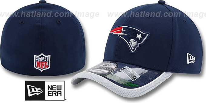 Patriots '2014 NFL STADIUM FLEX' Navy Hat by New Era : pictured without stickers that these products are shipped with