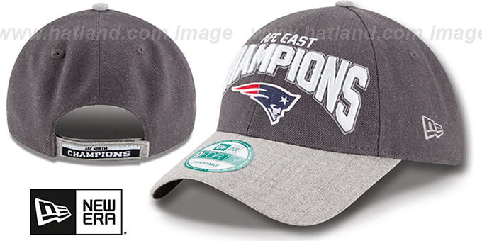 Patriots '2015 AFC EAST CHAMPS' Strapback Hat by New Era : pictured without stickers that these products are shipped with