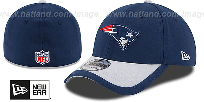 Patriots '2015 NFL STADIUM FLEX' Navy-Grey Hat by New Era : pictured without stickers that these products are shipped with