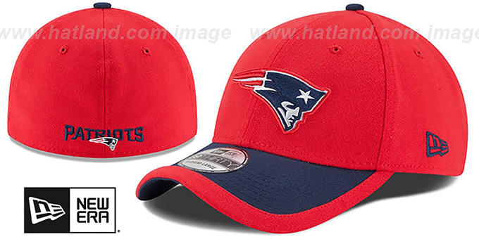 Patriots '2015 NFL STADIUM FLEX' Red-Navy Hat by New Era : pictured without stickers that these products are shipped with