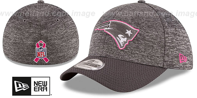 Patriots '2016 BCA FLEX' Grey-Grey Hat by New Era : pictured without stickers that these products are shipped with