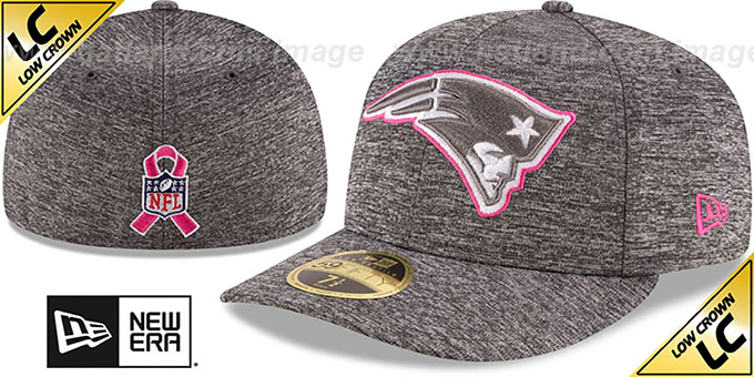Patriots '2016 LOW-CROWN BCA' Grey Fitted Hat by New Era : pictured without stickers that these products are shipped with