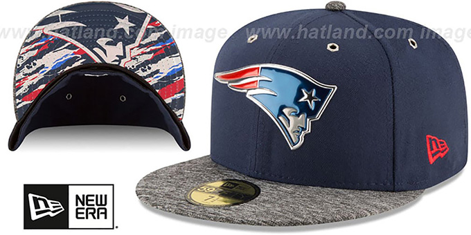 Patriots '2016 NFL DRAFT' Fitted Hat by New Era : pictured without stickers that these products are shipped with