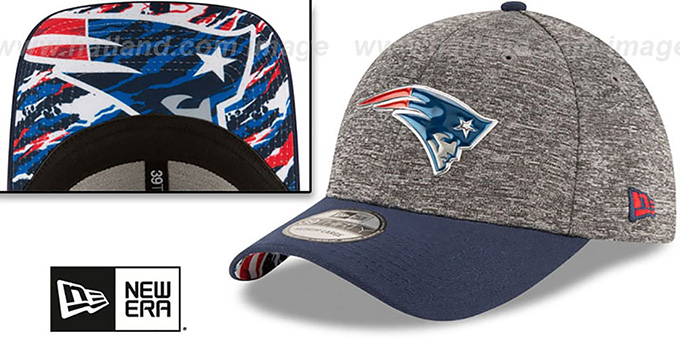 Patriots '2016 NFL DRAFT FLEX' Hat by New Era : pictured without stickers that these products are shipped with