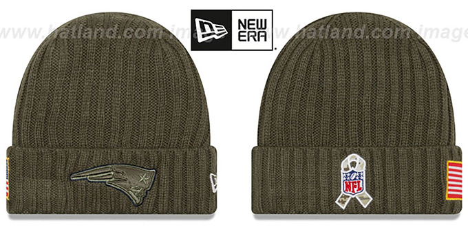New England Patriots 2017 SALUTE-TO-SERVICE Knit Beanie Hat 74b7aa27a44