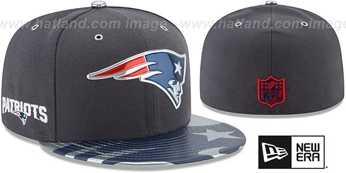 size 40 126a4 790ed New England Patriots 2017 SPOTLIGHT Charcoal Fitted Hat by New Era. Patriots   2017 SPOTLIGHT  Charcoal Fitted Hat by ...