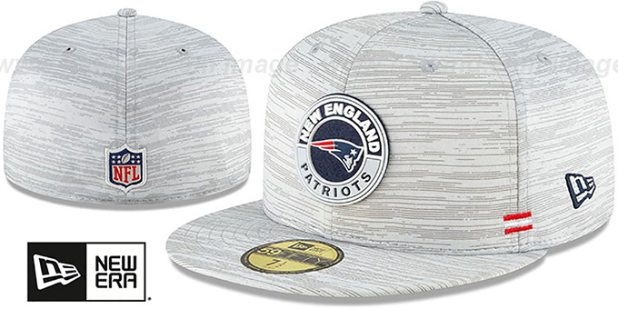 Patriots '2020 ONFIELD STADIUM' Heather Grey Fitted Hat by New Era