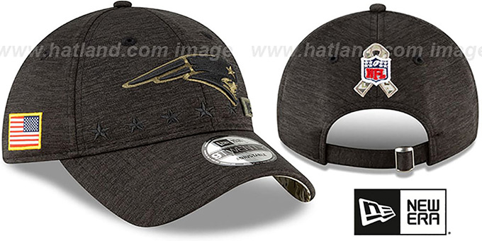Patriots '2020 SALUTE-TO-SERVICE STRAPBACK' ST Black Hat by New Era