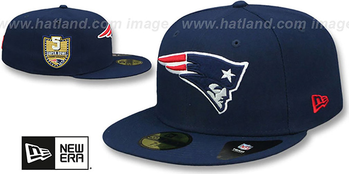 5e1d389d038e79 New England Patriots GOLDEN-HIT Navy Fitted Hat by New Era