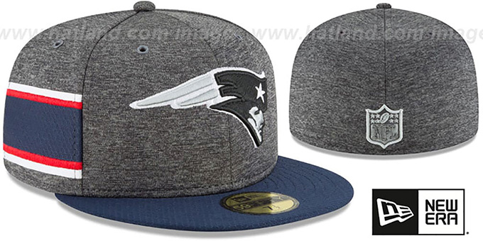 e2c8f8ef New England Patriots HOME ONFIELD STADIUM Charcoal-Navy Fitted Hat by New  Era