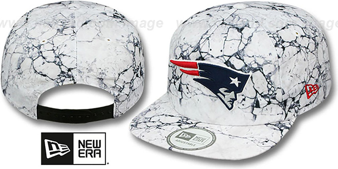 Patriots 'MARBLE MIX SNAPBACK' Hat by New Era : pictured without stickers that these products are shipped with