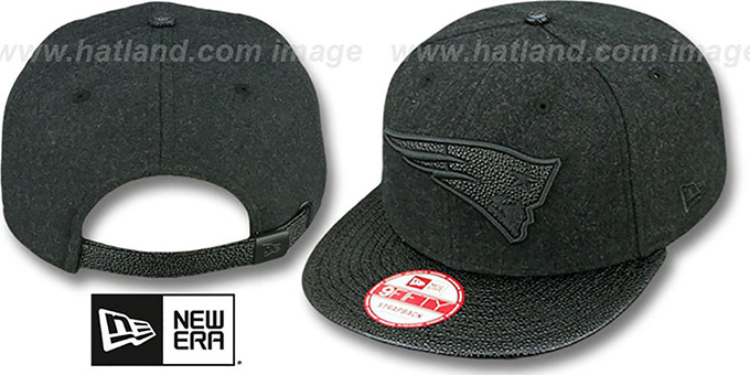 Patriots 'MELTON STINGER STRAPBACK' Hat by New Era : pictured without stickers that these products are shipped with