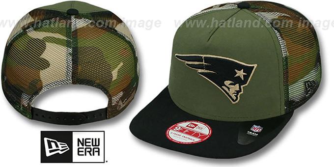 New England Patriots MESHED CAMO SNAPBACK Army-Black Hat 765eaddbcd1