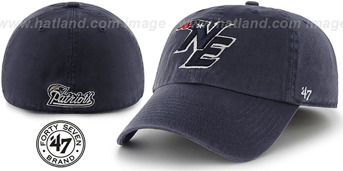 Patriots 'NFL ALTERNATE FRANCHISE' Navy Hat by 47 Brand : pictured without stickers that these products are shipped with