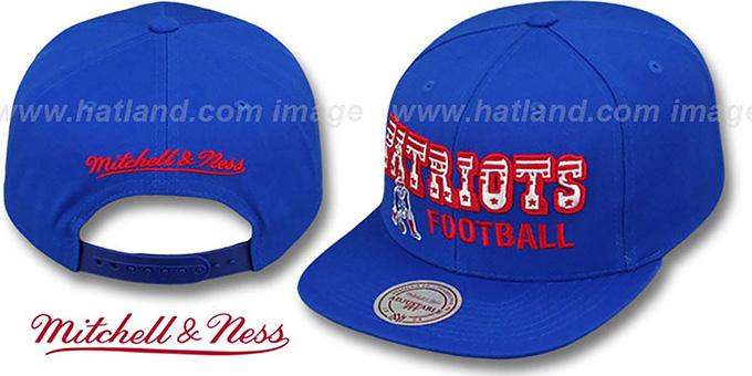 New England Patriots NFL-BLOCKER SNAPBACK Royal Hat by Mitchell   cc4feaca0