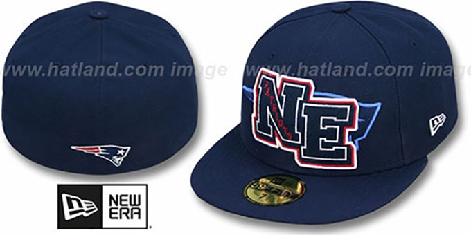 Patriots 'NFL FELTN' Navy Fitted Hat by New Era : pictured without stickers that these products are shipped with