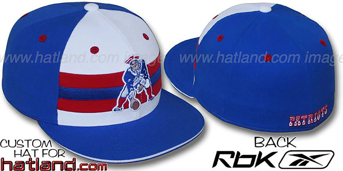 Patriots 'NFL-HORIZON THROWBACK' Fitted Hat by Reebok : pictured without stickers that these products are shipped with