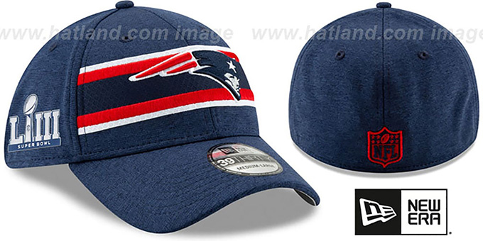 136fa44c New England Patriots NFL SUPER BOWL LIII ONFIELD FLEX Navy Hat by New Era