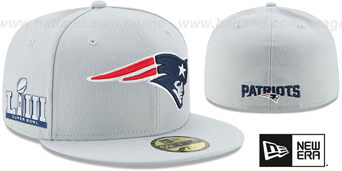 46da63c2c New England Patriots NFL SUPER BOWL LIII ONFIELD Grey Fitted Hat by New Era