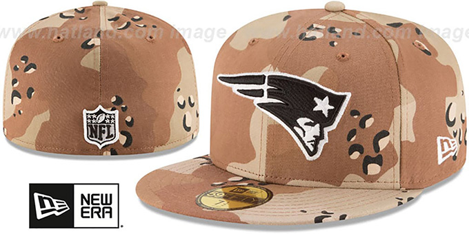 4155ee756 ... New Era. video available. Patriots 'NFL TEAM-BASIC' Desert Storm Camo  Fitted Hat by ...