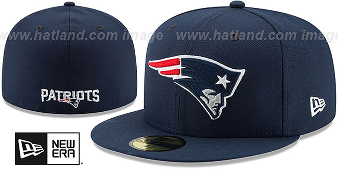 Patriots 'NFL TEAM-BASIC' Navy Fitted Hat by New Era