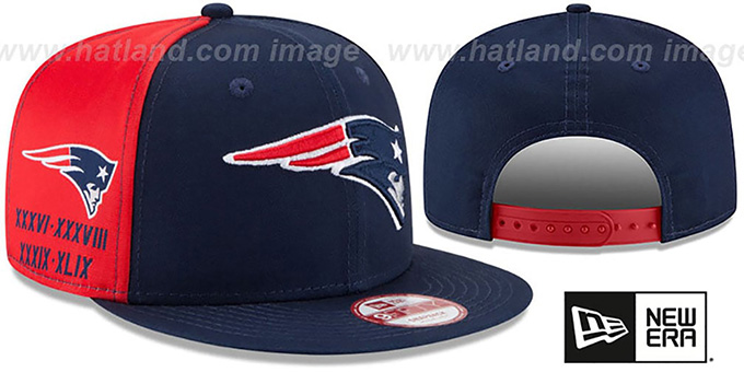 Patriots 'PANEL PRIDE SNAPBACK' Hat by New Era : pictured without stickers that these products are shipped with