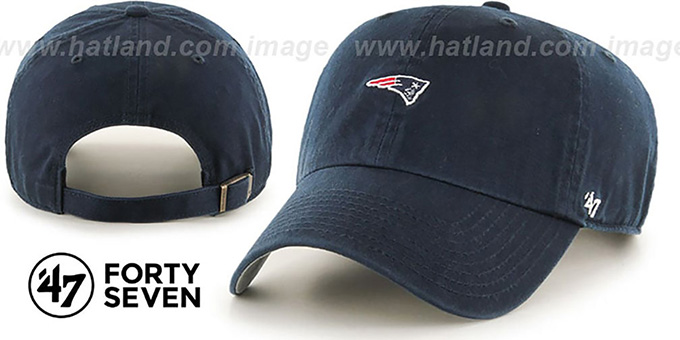 Patriots 'POLO STRAPBACK' Navy Hat by Twins 47 Brand : pictured without stickers that these products are shipped with
