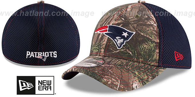 Patriots 'REALTREE NEO MESH-BACK' Flex Hat by New Era : pictured without stickers that these products are shipped with