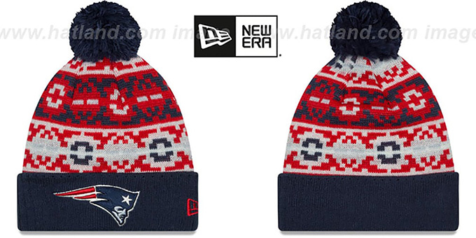 Patriots 'RETRO CHILL' Knit Beanie Hat by New Era : pictured without stickers that these products are shipped with