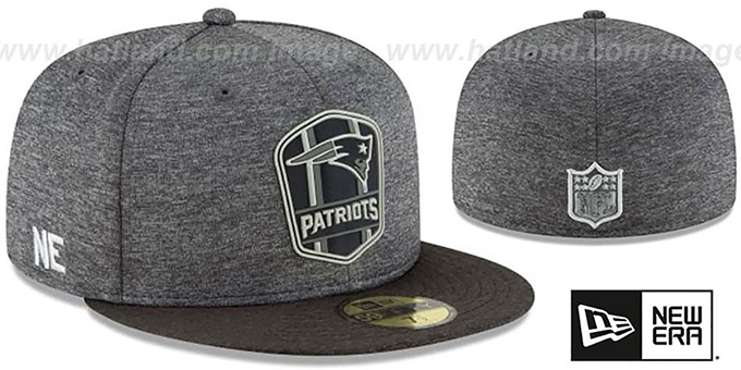 Patriots  ROAD ONFIELD STADIUM  Charcoal-Black Fitted Hat by New Era df710b27e93b