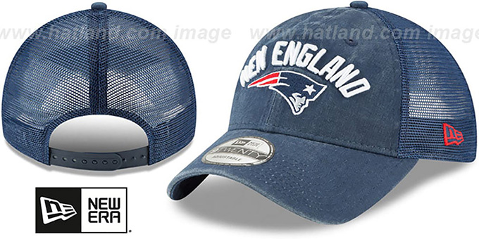 dc7fa64d6a0 Patriots  RUGGED-TEAM TRUCKER SNAPBACK  Navy Hat by New Era