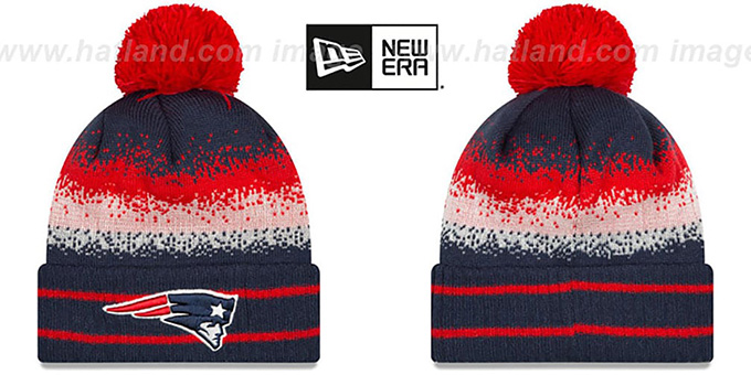 Patriots 'SPEC-BLEND' Knit Beanie Hat by New Era : pictured without stickers that these products are shipped with