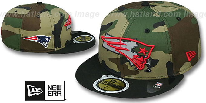 New England Patriots STATE REFLECT Army-Black Fitted Hat 7b5ee165bbb