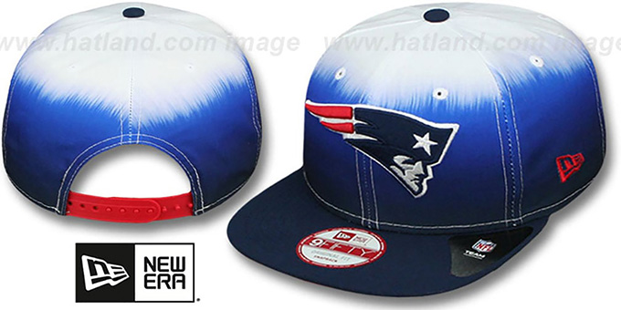 Patriots 'SUBLENDER SNAPBACK' Navy-White Hat by New Era : pictured without stickers that these products are shipped with