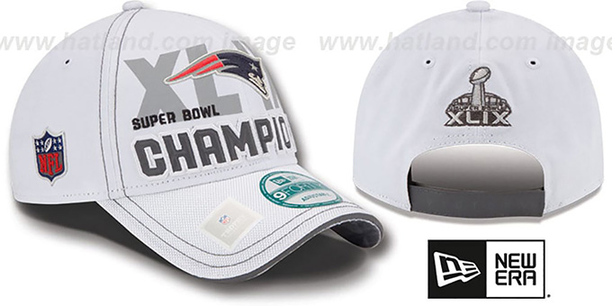 Patriots 'SUPER BOWL XLIX CHAMPS' Snapback Hat by New Era : pictured without stickers that these products are shipped with