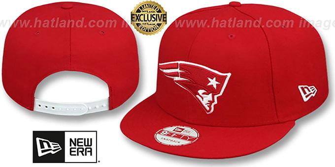 44b888fb New England Patriots TEAM-BASIC SNAPBACK Red-White Hat by New Era