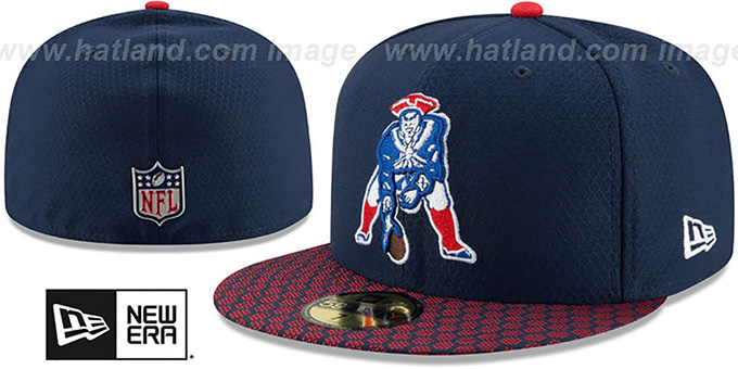 e966bb793ed Patriots THROWBACK HONEYCOMB STADIUM Navy Fitted Hat by New Era