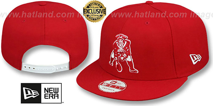 0e5f25ac0ad Patriots THROWBACK TEAM-BASIC SNAPBACK Red-White Hat by New Era