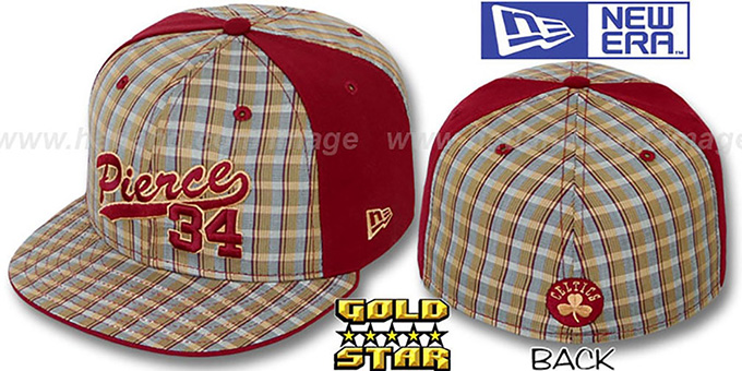 Paul Pierce 'SUPA STAR PLAID' Fitted Hat by New Era : pictured without stickers that these products are shipped with