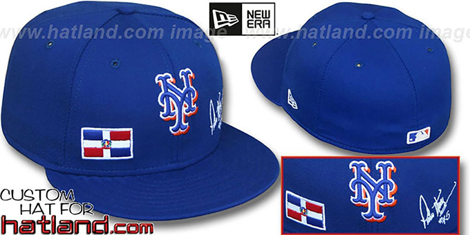 Pedro 'TRIPLE THREAT' Royal Fitted Hat by New Era : pictured without stickers that these products are shipped with