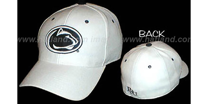 Penn State 'DHS' Fitted Hat by ZEPHYR - ivory : pictured without stickers that these products are shipped with