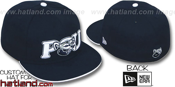 Penn State 'INSIDER BIG-ONE' Navy Fitted Hat by New Era : pictured without stickers that these products are shipped with