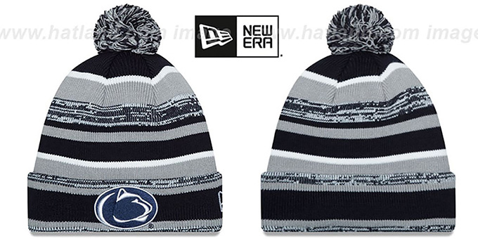 Penn State 'NCAA-STADIUM' Knit Beanie Hat by New Era : pictured without stickers that these products are shipped with