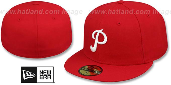 Philadelphia Phillies 1950-69 COOPERSTOWN Fitted Hat d45d0b00e49