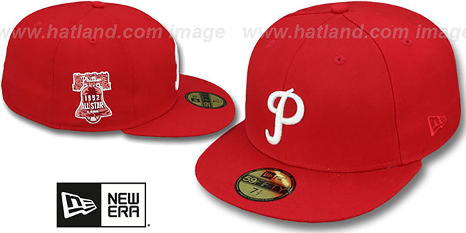 Phillies 1952 'SIDE ALL-STAR-PATCH' Fitted Hat by New Era : pictured without stickers that these products are shipped with
