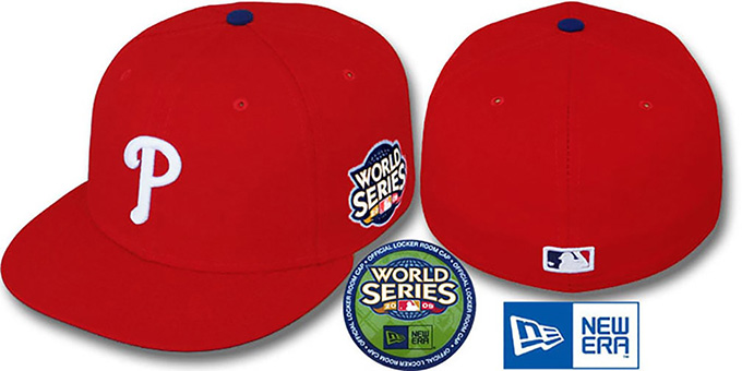 Phillies 2009 'WORLD SERIES GAME' Hat by New Era : pictured without stickers that these products are shipped with