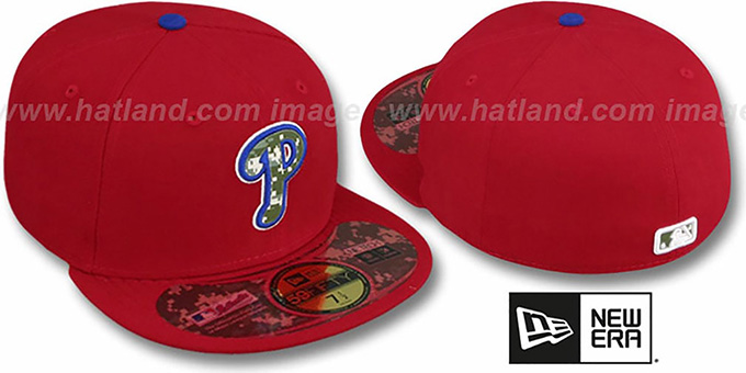Phillies '2012 STARS N STRIPES' Red Hat by New Era : pictured without stickers that these products are shipped with