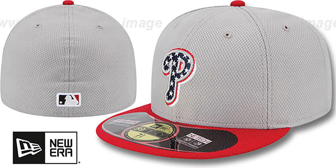 Phillies 2013 'JULY 4TH STARS N STRIPES' Hat by New Era : pictured without stickers that these products are shipped with